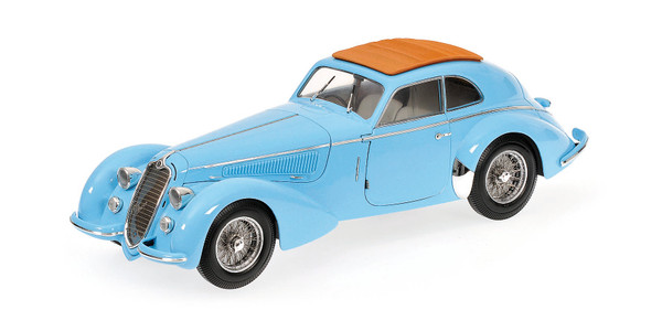 ALFA ROMEO 8C 2900 B LUNGO - 1938 - LIGHT BLUE Minichamps 100120420 – Bild 1