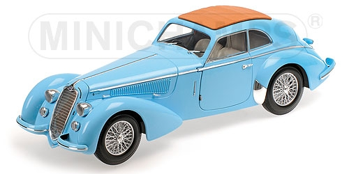 ALFA ROMEO 8C 2900 B LUNGO - 1938 - LIGHT BLUE Minichamps 100120420 – Bild 2