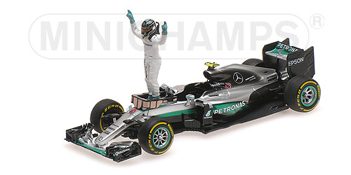 MERCEDES AMG PETRONAS F1 TEAM - F1 W07 HYBRID - ROSBERG - WORLD CHAMPION 2016 - W/ FIGURINE L.E. 650 pcs.