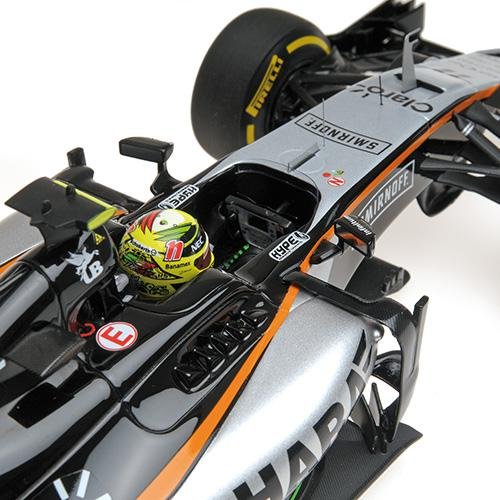 SAHARA FORCE INDIA F1 TEAM MERCEDES VJM09 - SERGIO PEREZ - 3RD PLACE MONACO GP 2016 Minichamps 117160011