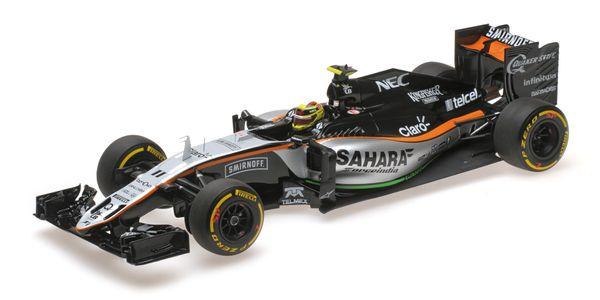 SAHARA FORCE INDIA F1 TEAM MERCEDES VJM09 - SERGIO PEREZ - 3RD PLACE MONACO GP 2016 Minichamps 117160011