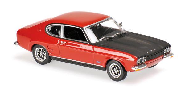 Maxichamps 1/43 Scale Diecast 940 085801 Ford Capri MK1 1969 - Red
