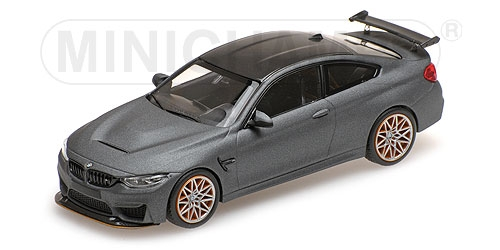 BMW M4 GTS - 2016 - MATT GREY W/ ORANGE WHEELS L.E. 1008 pcs. Minichamps 410025220