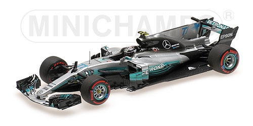 MERCEDES AMG PETRONAS FORMULA ONE TEAM F1 W08 EQ POWER+ - VALTTERI BOTTAS - 2nd MEXICAN GP 2017 L.E. 504 pcs.