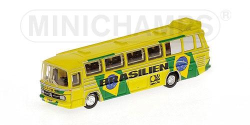 MERCEDES-BENZ O302 (LHD) - FUSSBALL-WELTMEISTERSCHAFT 1974 - MANNSCHAFTSBUS 'BRASILIEN' L.E. 999 pcs.