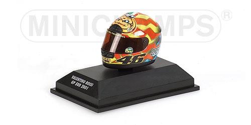 AGV HELMET - VALENTINO ROSSI - WORLD CHAMPION MOTOGP 2001