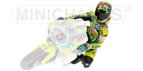 FIGURINE - RIDING - VALENTINO ROSSI - 250CCM GP MUGELLO 1999 L.E. 3996 pcs.