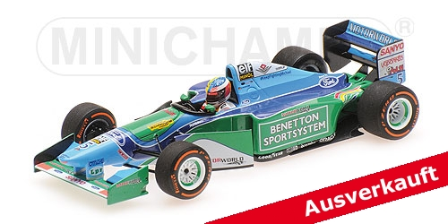 BENETTON FORD B194 - MICK SCHUMACHER - DEMONSTRATION RUN - BELGIAN GP 2017