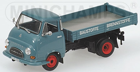 HANOMAG KURIER KIPPER - 1958 - BLUE/BLACK L.E. 1008 pcs.