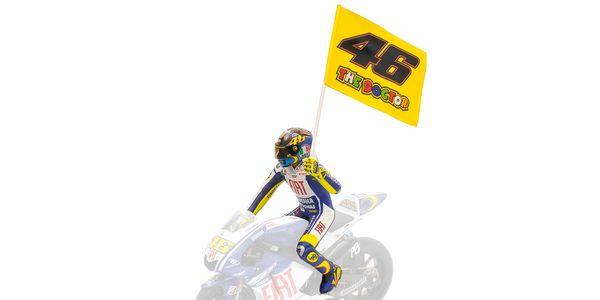 FIGURINE - VALENTINO ROSSI - MOTOGP 2009 - MISANO WITH FLAG L.E. 999 pcs.