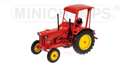 HANOMAG R35 - FARM TRAKTOR WITH ROOF - 1955 - RED