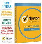 Norton Security 3.0 Deluxe 2019 3 PC Mac Android Tablet 001