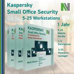 Kaspersky Small Office Security 6 7 (ab 5 PC, 5 Mobile Geräte, 1 Server) 1 Jahr 001