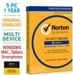 Norton Security 3.0 Deluxe 5 PC Geräte 1 Jahr 2020 Mac Android 001