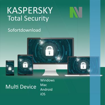Kaspersky Total Security 2020 Multi-Device 10 PC Geräte 1 Jahr