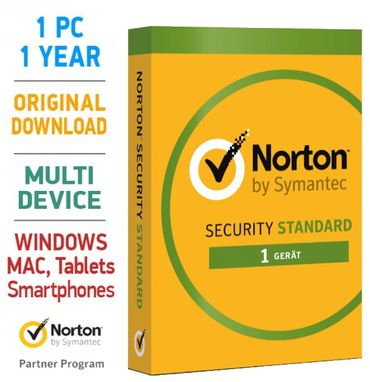 Norton Security 3.0 Standard 2019 1 PC 1 Jahr Mac Android Tablet – Bild 1
