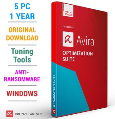 Avira Optimization Suite 2018 5 PC 1 Jahr inkl. Antivirus