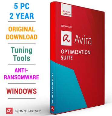 Avira Optimization Suite 2018 5 PC 2 Jahre inkl. Antivirus