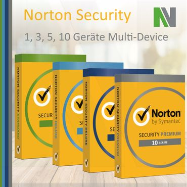 Norton Security 1 3 5 10 PC Geräte 1 Jahr 2018 Windows Mac Android Deluxe Premium Standard – Bild 1