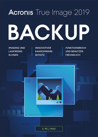Acronis True Image 2019 3 PC MAC inkl upgrade 2020