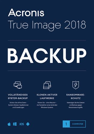 Acronis True Image 2018 1 PC MAC BACKUP SOFTWARE – Bild 1