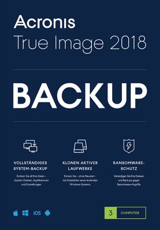 Acronis True Image 2018 3 PC MAC BACKUP SOFTWARE – Bild 1