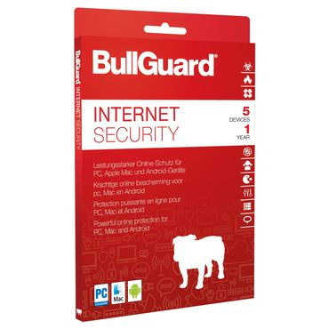 Bullguard Internet Security 5 PC 1 Jahr 2019 verschlüsseltes Cloud-Backup – Bild 1