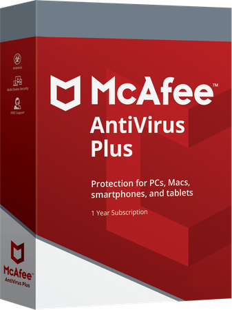 McAfee AntiVirus Plus 2019 1 PC 1 Jahr Mac Android