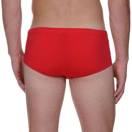 Basic Wave Line SWIM - Retro-Badehose - rot Bild 3