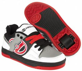 Heelys Flow White/Black/Grey/Red