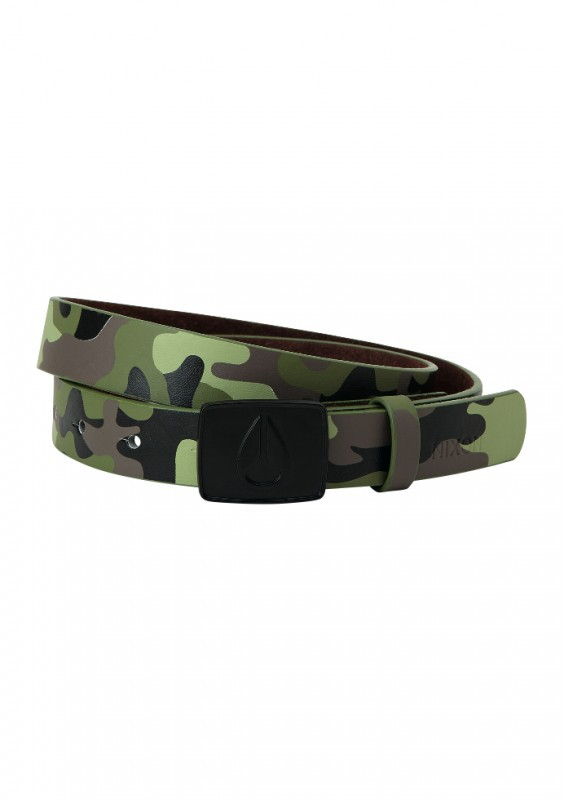Nixon Enamel Icon Belt Woodland Camo Medium 105 cm