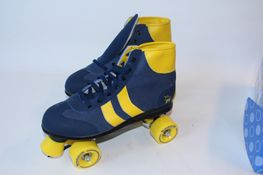 Rookie Rollschuhe Retro blue/yellow