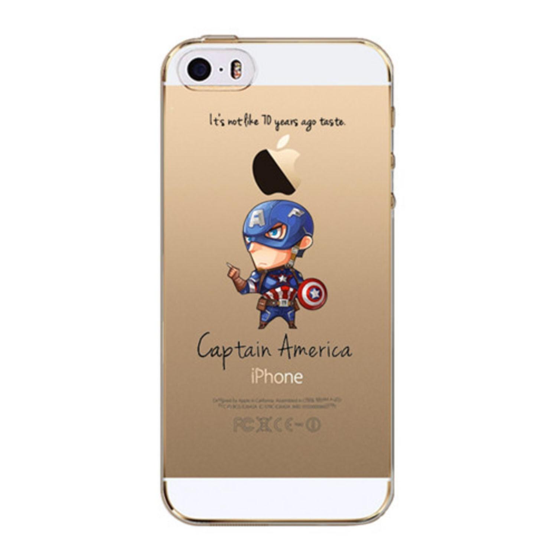 Kritzel Case iPhone SE - Captain America