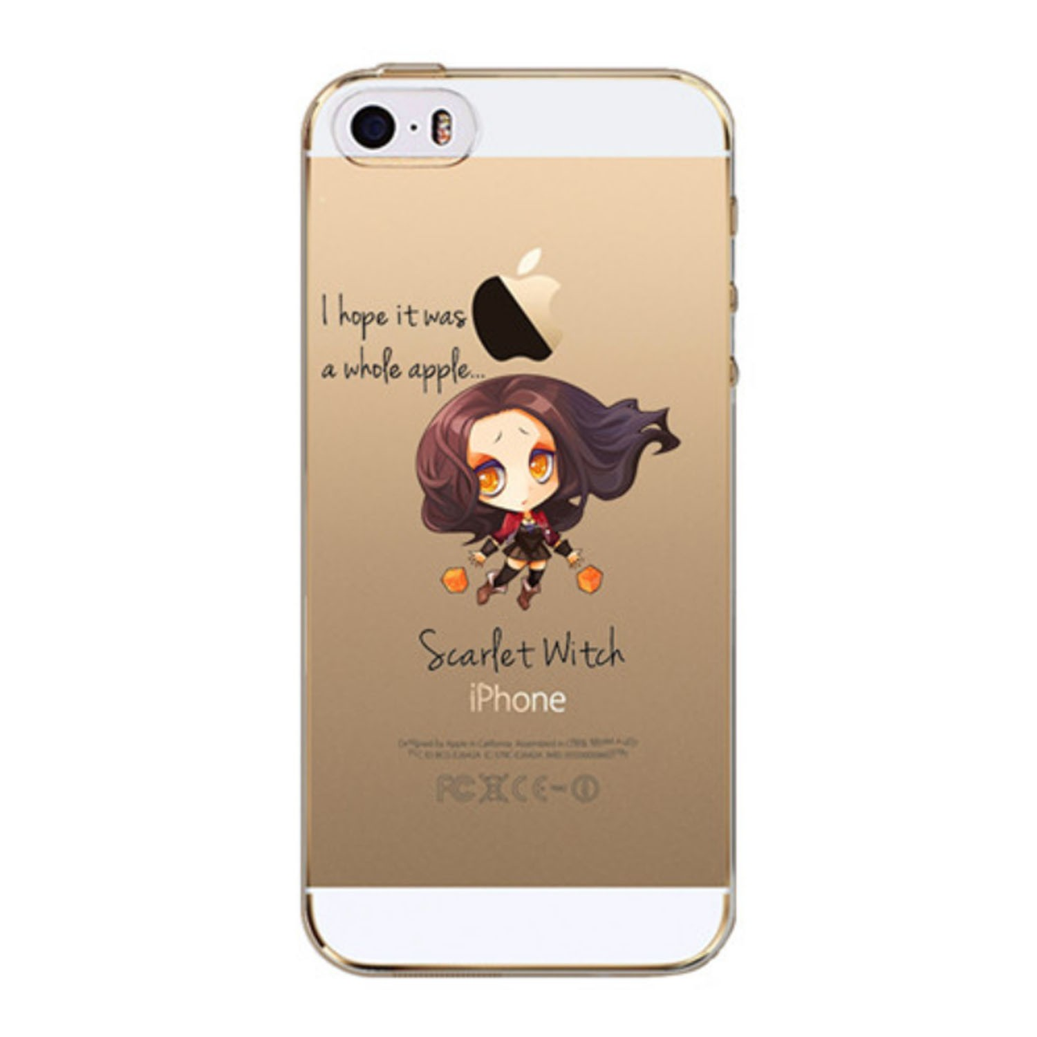 Kritzel Case iPhone SE - Scarlet Witch