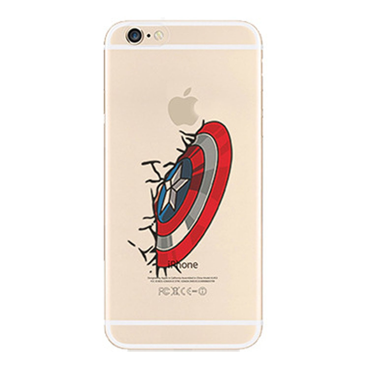 Kritzel Case iPhone 6 Plus / 6s Plus Comic Super Heroes - Captain America