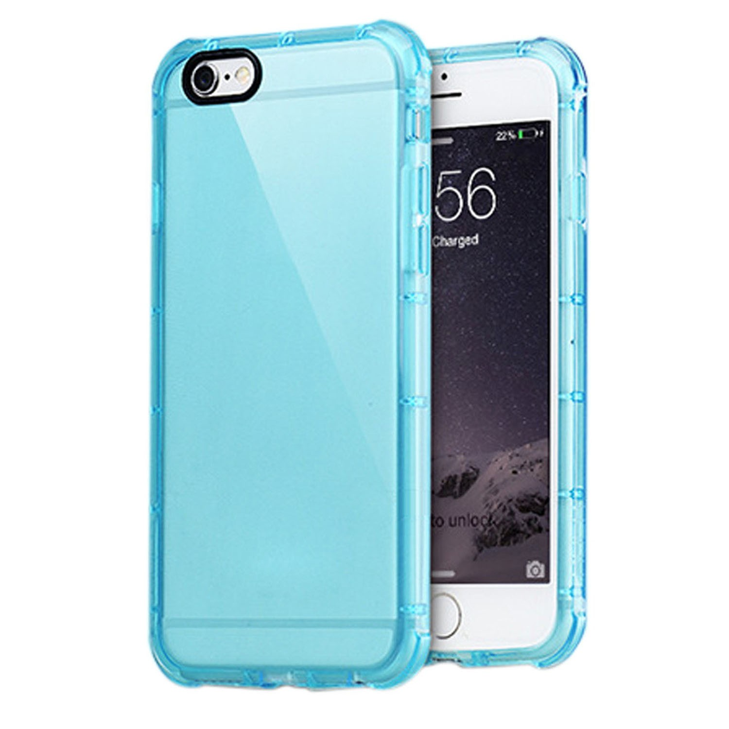Yemota Pro Hybrid Case iPhone 6 / 6s - Blau