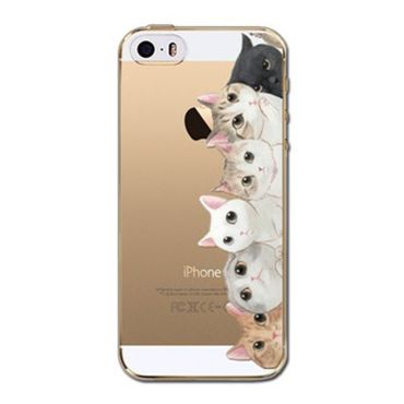 Kritzel Case iPhone 5s / SE - Kitty Collection #409
