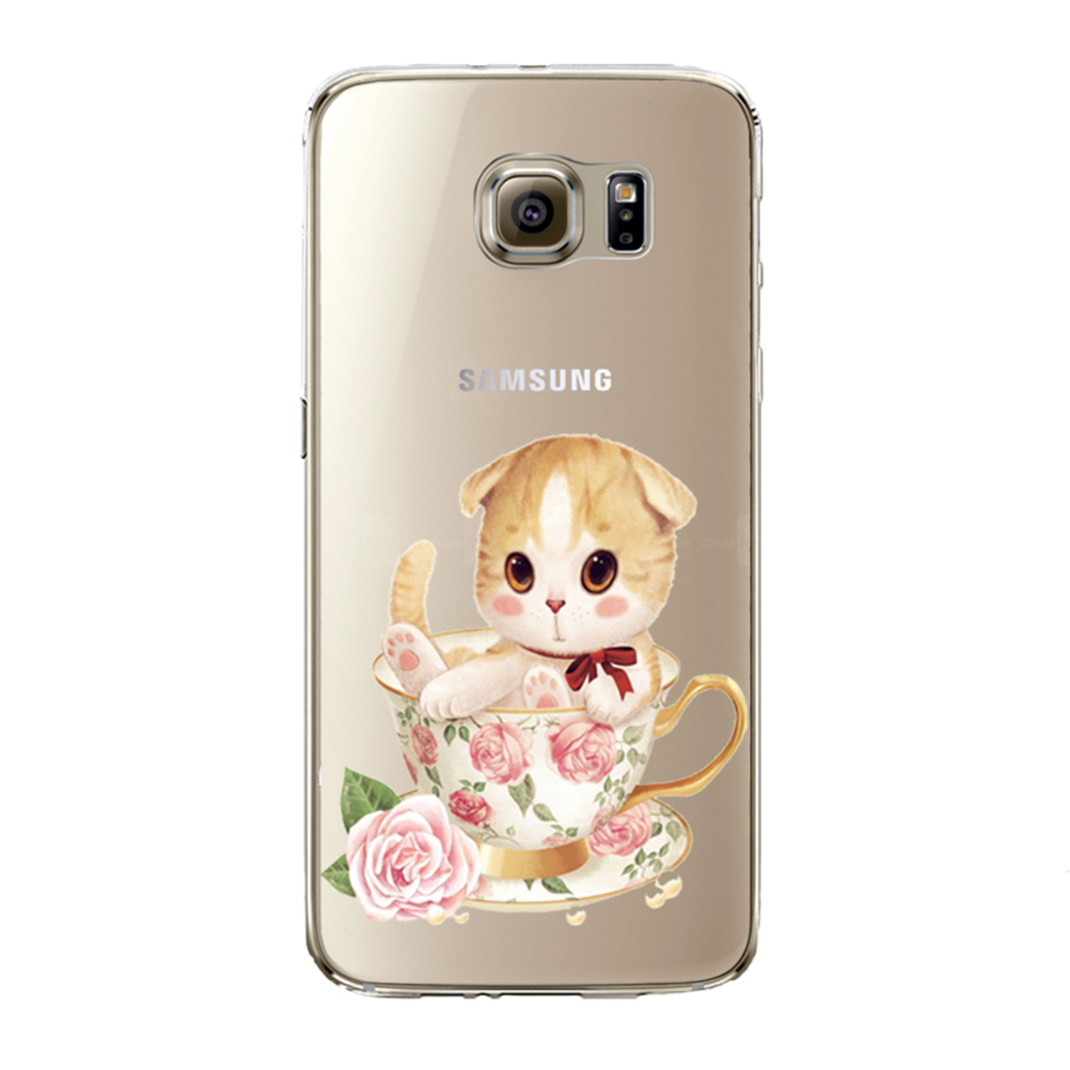 Kritzel Case Collection Galaxy S7 edge - Kitty Collection #449