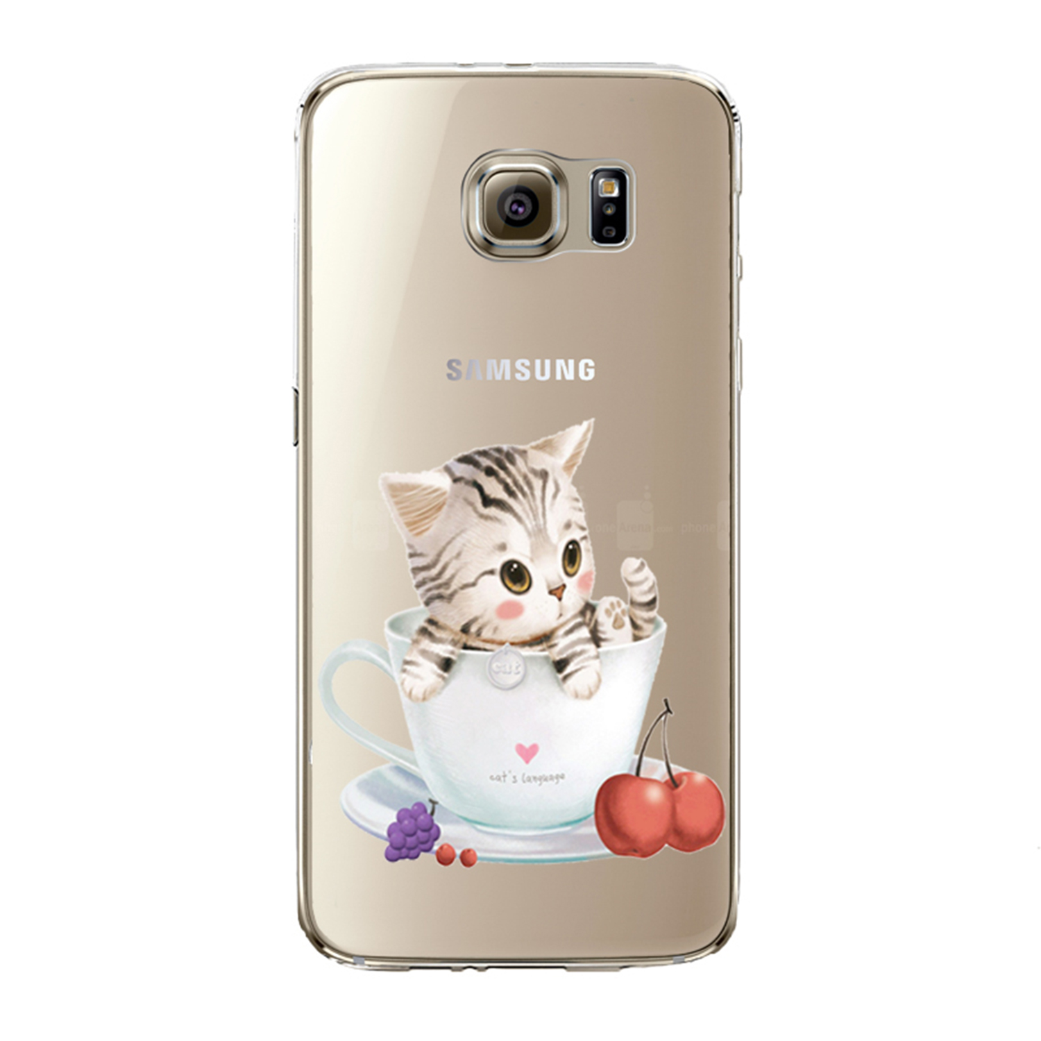 Kritzel Case Collection Galaxy S7 edge - Kitty Collection #451