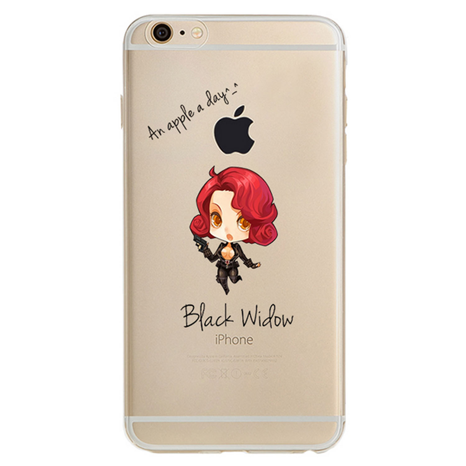 Kritzel Collection für iPhone 7 - Black Widow