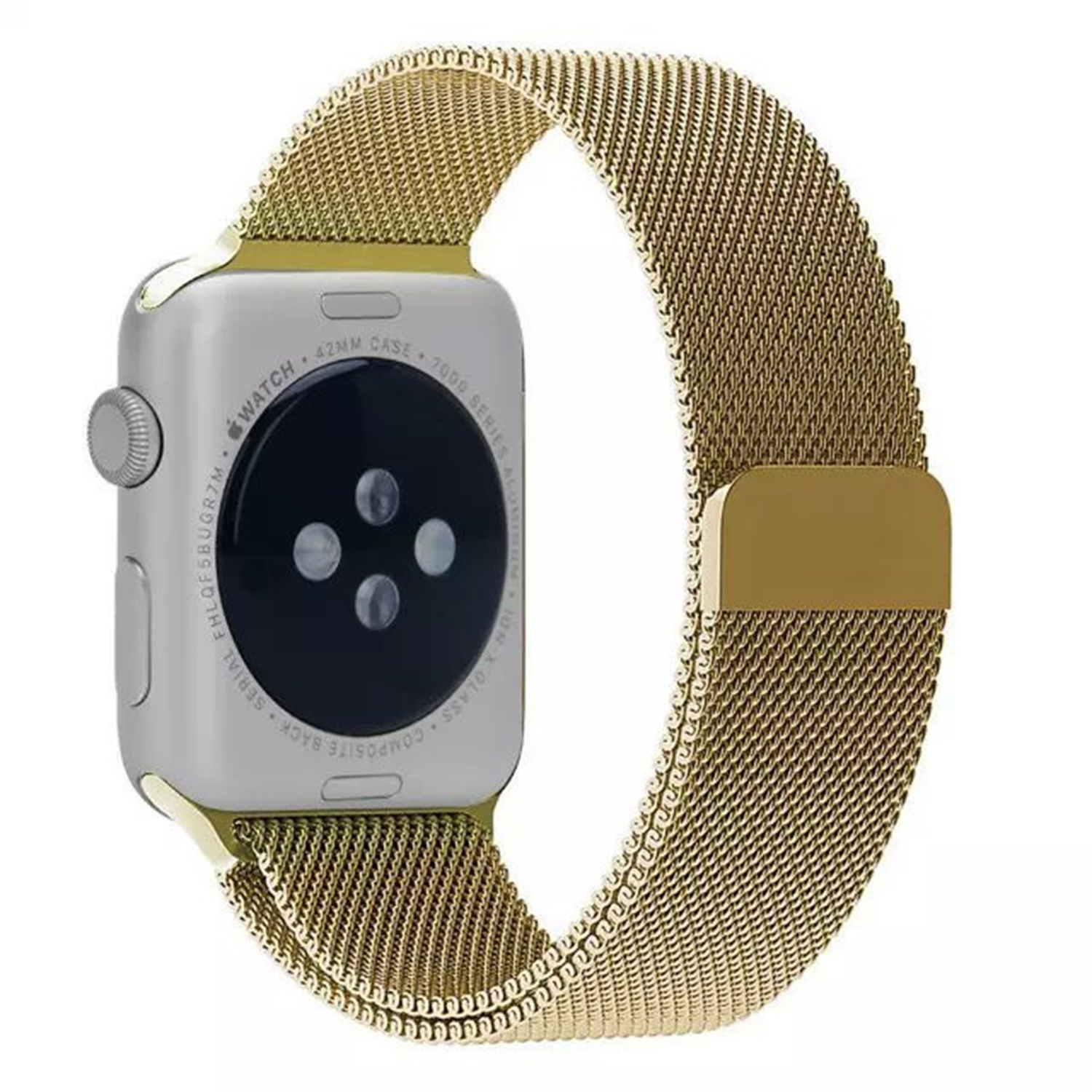 Yemota Pro Apple Watch 42 mm Stainless Steel Magnetarmband - Gold