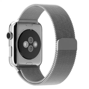 Yemota Pro Apple Watch 42 mm Stainless Steel Magnetarmband - Silber