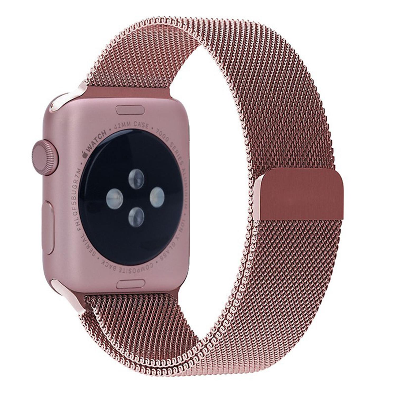 Yemota Pro Apple Watch 42 mm Stainless Steel Magnetarmband - Rosa