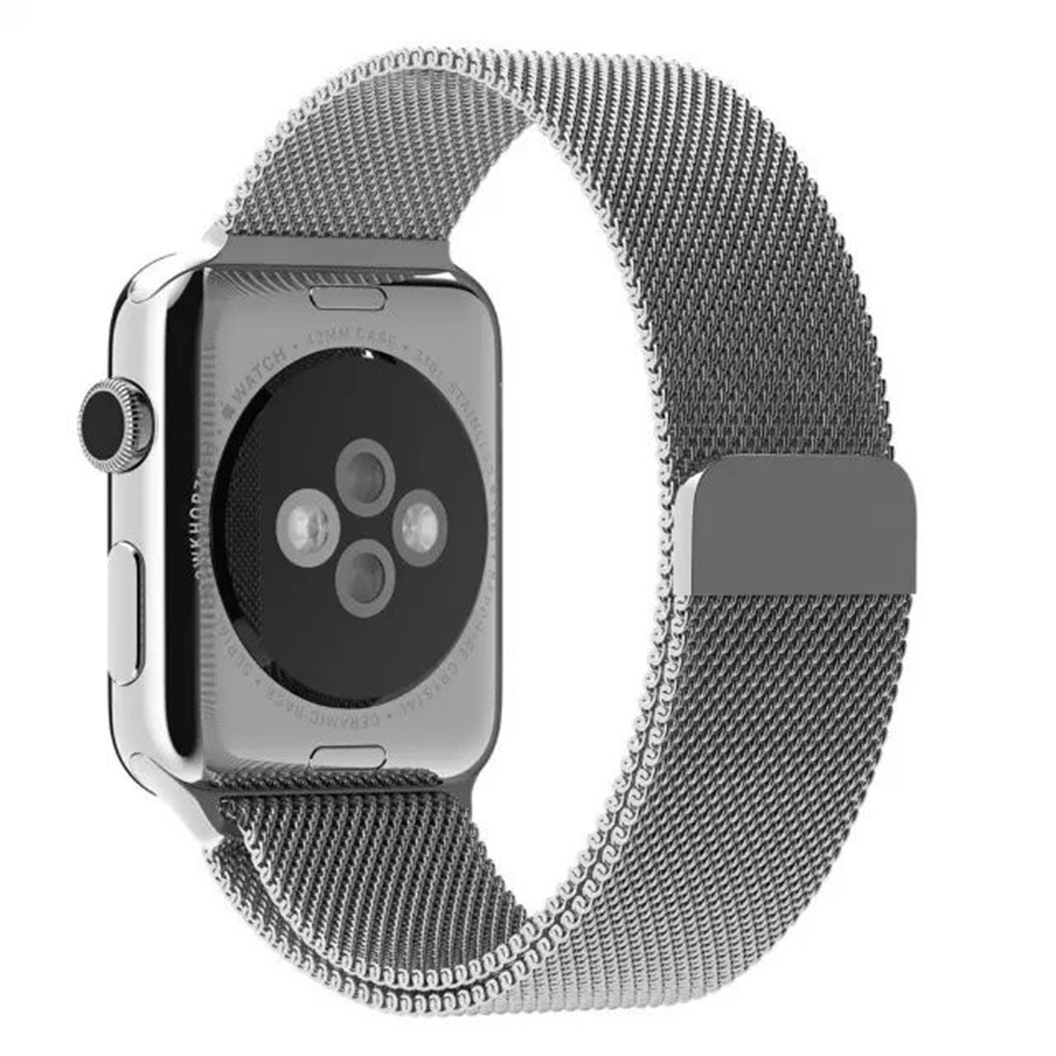 Yemota Pro Apple Watch 38 mm Stainless Steel Magnetarmband - Silber