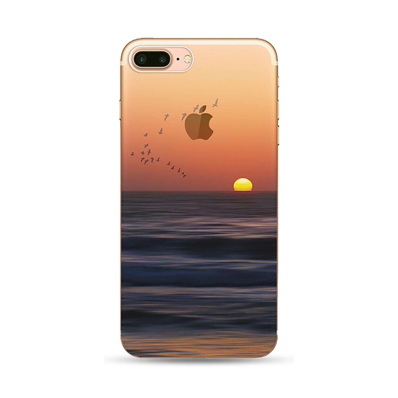 NOXCASE Schutzhülle für iPhone 7 Plus - Nature Vögel/Meer