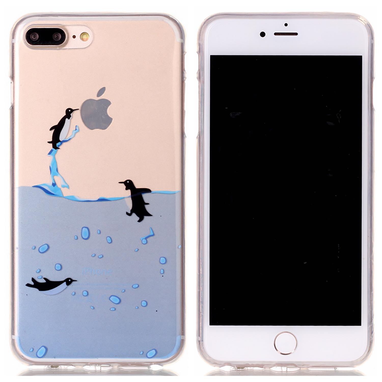 NOXCASE Schutzhülle für iPhone 7 Plus - Pinguine