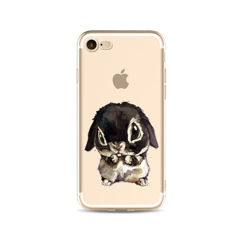 Kritzel Schutzhülle für iPhone 7 - Hase