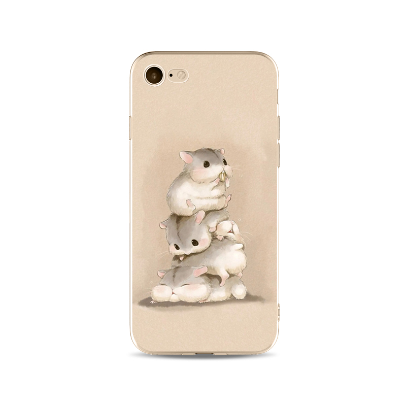 Kritzel Schutzhülle für iPhone 7 - Hamster
