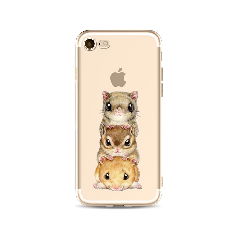 Kritzel Schutzhülle für iPhone 7 - 3 Hamster
