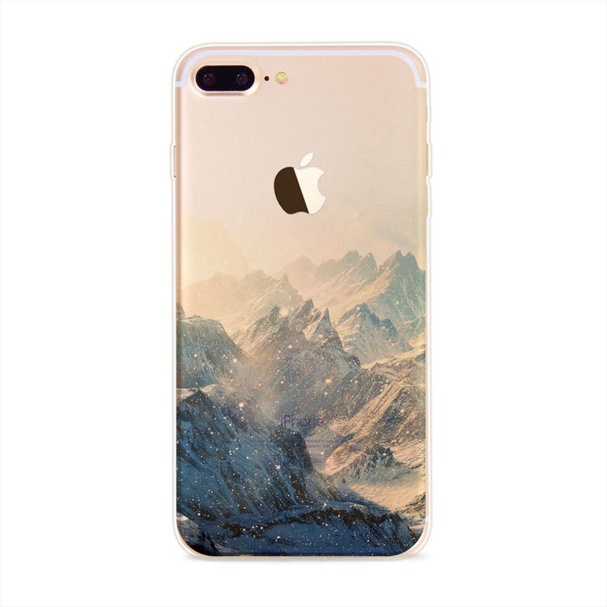 NOXCASE Softcase für iPhone 7 Plus - Berge